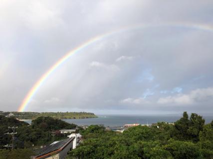 朝から綺麗な虹・・・続けて